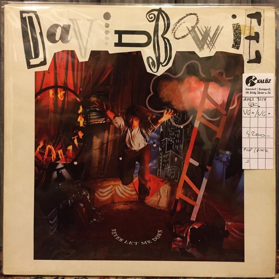 David Bowie Never Let Me Down használt hanglemez | Kalóz Records Hanglemezbolt